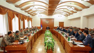 Photo of Հանդիպում ՊԲ բարձրագույն սպայակազմի և հանրապետության տարածքային կառավարման մարմինների մասնակցությամբ
