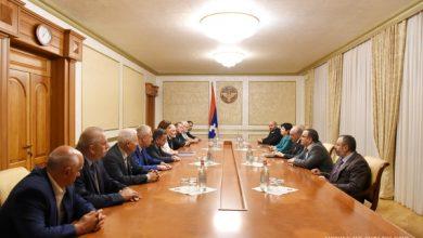 Photo of Բակո Սահակյանը հանդիպում է ունեցել Ռուսաստանի հայերի միության պատվիրակության հետ