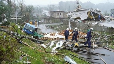 Photo of Сильнейший за полвека тайфун обрушился на Японию