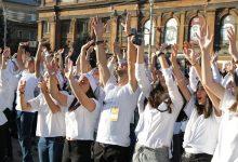 Photo of «Тhank you, world!». Школьники из Гюмри выразили благодарность миру