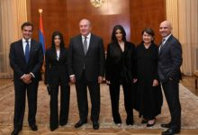 Photo of Քիմ և Քորթնի Քարդաշյանները հյուրընկալվել են Հայաստանի նախագահի նստավայրում