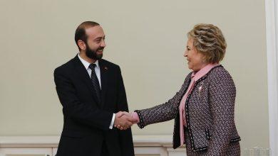 Photo of ՀՀ Ազգային ժողովի նախագահ Արարատ Միրզոյանը հանդիպել է ՌԴ Դաշնային խորհրդի նախագահ Վալենտինա Մատվիենկոյին