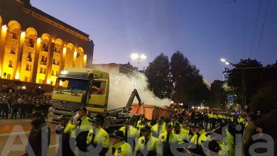 Photo of Թբիլիսիի Ռուսթավելի պողոտան ցույցը ցրելուց հետո