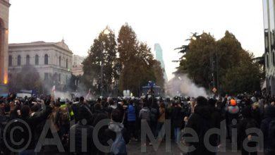 Photo of Վրաստանի իշխանությունները կրկին ցրեցին ընդդիմության ցույցը