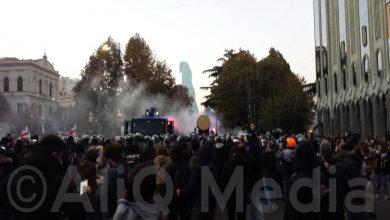 Photo of Վրաստանի հատուկջոկատայինները հեռացնում են ցուցարարների վրանները