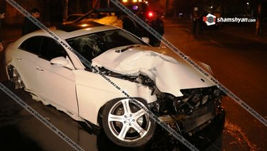 Photo of Ավտոմեքենաների ջարդ Երևանում. երթևեկությունը ժամանակավորապես դադարեցվել է