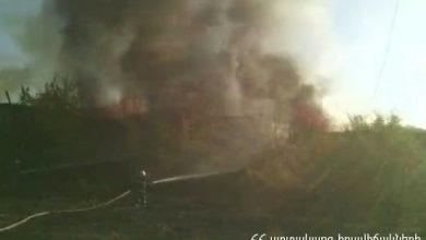 Photo of Հրդեհ Էրեբունի օդանավակայանում. այրվում է անգարի տանիքը