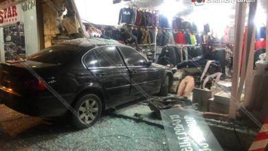 Photo of Ավտովթար Գյումրիում. BMW-ն մխրճվել է հագուստի սրահի մեջ. կան վիրավորներ