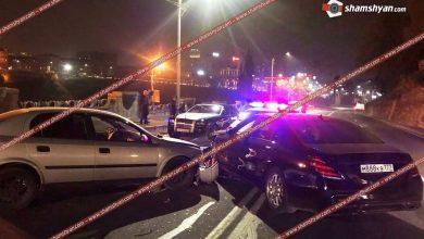 Photo of Խոշոր ավտովթար Երևանում. բախվել են 2 Mercedes-ները եւ Opel-ը. վթարի մասնակիցներից է «Նեմեց Ռուբոյի» ազգականը, ով փորձել է դեպքի վայրում «շոու սարքել»