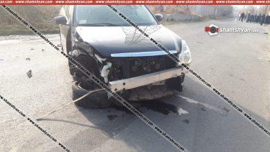 Photo of Խոշոր ավտովթար Կոտայքի մարզում. բախվել են 25–ամյա վարորդի Nissan-ը և 35-ամյա վարորդի Volkswagen-ը. վերջինս գլխիվայր շրջվել է. կան վիրավորներ
