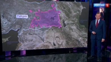 Photo of Карта показанная по каналу »Россия 1» стала причиной истерии в Турции