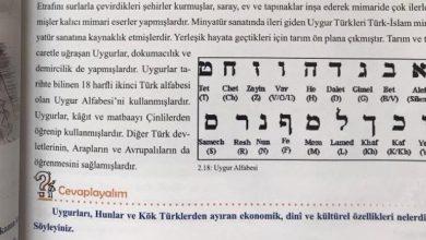 Photo of Թուրքիայում դպրոցական դասագրքերում եբրայերենի այբուբենը ներկայացվել է որպես ույղուրական այբուբեն