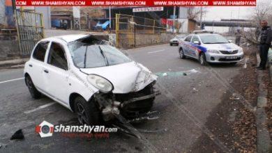 Photo of Ավտովթար Երևանում. Nissan March-ը բախվել է ծառին և գազատար խողովակին. կա 4 վիրավոր
