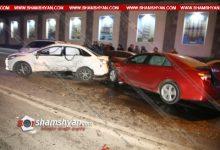 Photo of Խոշոր ավտովթար Երևանում․ բախվել են Toyota Camry-ն ու Ford-ը և կայանված BMW-ն. կա 4 վիրավոր