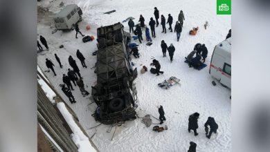 Photo of 10 человек погибли в упавшем с моста автобусе под Читой
