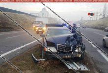 Photo of Խոշոր ավտովթար Կոտայքի մարզում. «Արծվի թևեր»-ի մոտ բախվել են Opel-ն ու Mercedes-ը, Mercedes-ն էլ տապալել է երթևեկությունը կարգավորող ցուցանակը. կան վիրավորներ