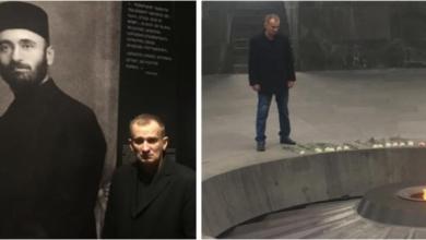 Photo of Друг армянского народа Виктор Александров оставил запись в книге посетителей Цицернакаберда