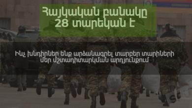 Photo of Հայկական բանակը 28 տարեկան է․ ինչ խնդիրներ ենք արձանագրել տարբեր տարիների մեր մշտադիտարկման արդյունքում