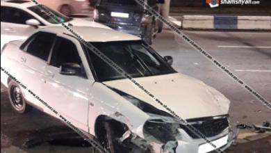 Photo of Խոշոր ավտովթար Երևանում բախվել են Range Rover-ն ու VAZ 21703-ը. կա վիրավոր