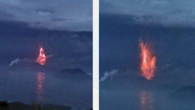 Photo of Вулкан Тааль на Филиппинах начал выбрасывать лаву