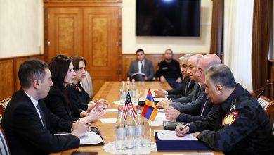 Photo of Արման Սարգսյանն ընդունել է միջազգային փորձագետ Ե. Զգուլաձեին և ԱՄՆ դեսպանության թմրամիջոցների դեմ պայքարի ծրագրի տնօրեն Մ. Շուլմանին