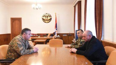 Photo of Встреча с начальником Генштаба Вооруженных сил РА Артаком Давтяном