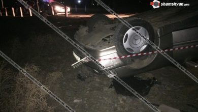 Photo of Արտակարգ դեպք Արմավիրի մարզում. բախվել են Երևան-Թբիլիսի մարդատար գնացքն ու Mercedes C180 մակնիշի ավտոմեքենան. վերջինս, գլխիվայր շրջվելով, հայտնվել է ձորակում