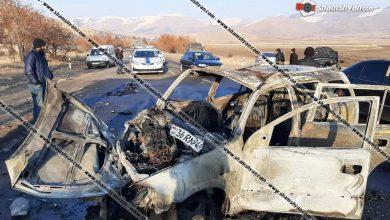 Photo of Խոշոր ավտովթար-հրդեհ Շիրակի մարզում. մեքենան վերածվել է մոխրակույտի. կան վիրավորներ
