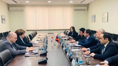 Photo of Սուրեն Պապիկյանը հանդիպել է Վրաստանի փոխվարչապետ, տարածքային զարգացման և ենթակառուցվածքների նախարար Մայա Ցքիտիշվիլիի հետ