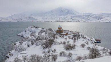 Photo of Վանա լճի Աղթամար կղզին ձմռանը
