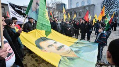 Photo of Курдская община Армении провела марш протеста в связи с 20-летием заключения Оджалана