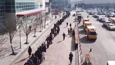 Photo of Сотни людей стоят в очереди за масками в Южной Корее