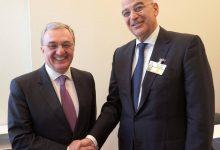 Photo of ԱԳ նախարար Զոհրաբ Մնացականյանի հանդիպումը Հունաստանի ԱԳ նախարար Նիկոս Դենդիասի հետ