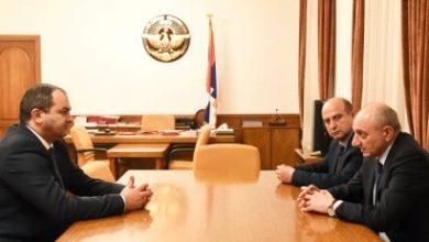 Photo of Президент Республики Арцах принял генерального прокурора Республики Армения