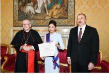 Photo of Мехрибан Алиева — дама Большого креста ордена Пия IX