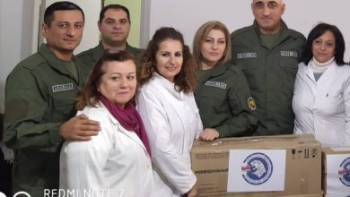 Photo of Группа гуманитарной миссии РА в Сирии раздала разным учреждениям медицинские принадлежности