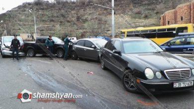 Photo of Խոշոր ու շղթայական ավտովթար Երևանում. բախվել են Lincoln-ը, 2 Mercedes-ներ, Ford-ն ու Kia-ն. կան վիրավորներ