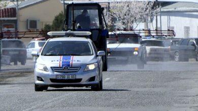 Photo of Дезинфекция оживленных улиц и тротуаров города Эчмиадзин носит непрерывный характер