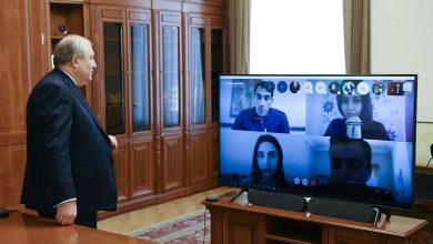 Photo of Президент РА Армен Саркисян инициировал ряд дистанционных лекций, он дал задания студентам