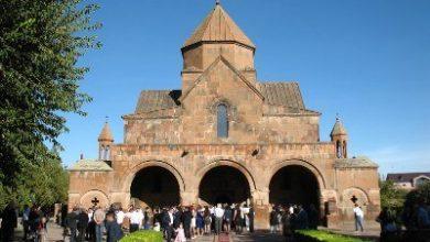 Photo of Сегодня в Эчмиадзине в церкви Св. Гаяне состоялось несколько свадеб