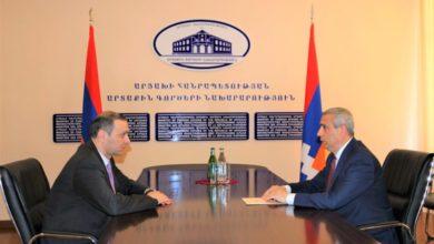 Photo of Արցախի ԱԳՆ ղեկավար Մասիս Մայիլյանը հանդիպել է ՀՀ ԱԽ քարտուղար Արմեն Գրիգորյանի հետ