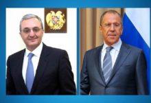 Photo of Министры иностранных дел Мнацаканян и Лавров обсудили вопросы относящиеся к развитию последних событий в процессе урегулирования нагорно-карабахского конфликта.