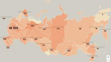 Photo of Последние данные по коронавирусу в России. Карта. meduza