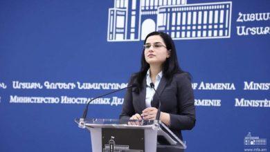 """Photo of Ответ пресс-секретаря МИД Армении на вопрос журналиста газеты """"Коммерсантъ"""""""