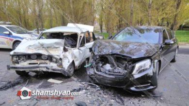 Photo of Խոշոր ավտովթար Գագիկ Ծառուկյանի տան դիմաց. բախվել են վերջինիս պատկանող Maybach-ն ու «06»-ը. կա վիրավոր