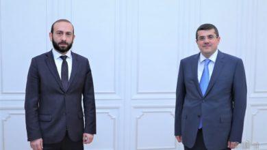 Photo of Спикер парламента РА Арарат Мирзоян принял новоизбранного президента Арцаха