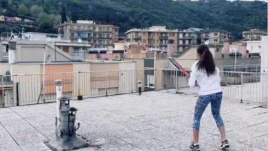 Photo of Итальянские теннисистки сыграли партию на соседних крышах Карантин — не повод прекращать тренировки