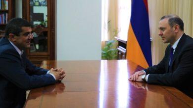 Photo of Секретарь Совбеза Армен Григорян принял новоизбранного президента Арцаха Араика Арутюняна