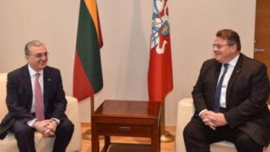 Photo of Глава МИД Армении обсудил с литовским коллегой меры в борьбе с коронавирусом