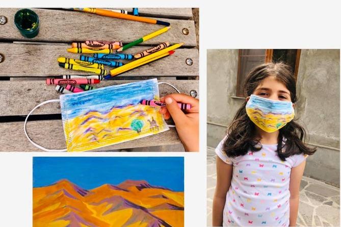 Photo of Коронавирус как искусство: дети в Армении создают картины и воспроизводятся шедевры на медицинских масках